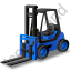 Forklift Truck Blue Icon