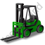 Forklift Truck Green Icon