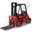 Forklift Truck Red Icon, PNG/ICO, 64x64
