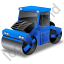 Road Roller Blue Icon