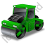 Road Roller Green Icon