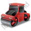 Road Roller Red Icon