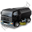 Road Sweeper Black Icon