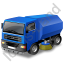 Road Sweeper Blue Icon