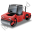Roller Compactor Red Icon, PNG/ICO, 64x64
