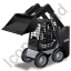 Skid Steer Loader Black Icon, PNG/ICO, 64x64