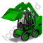 Skid Steer Loader Green Icon