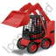 Skid Steer Loader Red Icon, PNG/ICO, 64x64