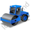 Steam Roller Blue Icon