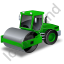 Steam Roller Green Icon