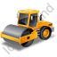 Steam Roller Yellow Icon, PNG/ICO, 64x64