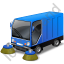 Street Sweeper Blue Icon