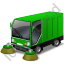 Street Sweeper Green Icon