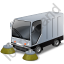 Street Sweeper Grey Icon