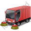Street Sweeper Red Icon, PNG/ICO, 64x64