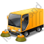 Street Sweeper Yellow Icon