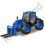 Telescopic Handler Blue Icon, PNG/ICO, 64x64