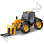 Telescopic Handler Yellow Icon