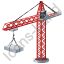 Tower Crane Red Icon