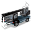 Truck Mounted Crane Black Icon, PNG/ICO, 64x64
