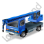 Truck Mounted Crane Blue Icon