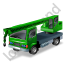 Truck Mounted Crane Green Icon, PNG/ICO, 64x64