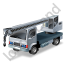 Truck Mounted Crane Grey Icon