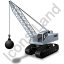 Wrecking Ball Grey Icon, PNG/ICO, 64x64
