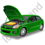 Car Repair Green Icon