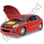 Car Repair Red Icon