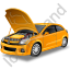 Car Repair Yellow Icon