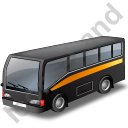 Commuter Bus Black Icon