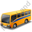 Commuter Bus Yellow Icon