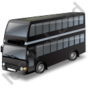 Double Decker Bus Black Icon