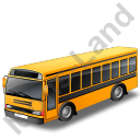 School Bus Black Icon
