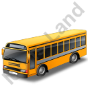 School Bus Grey Icon, PNG/ICO, 128x128