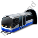 Subway Train Blue Icon, PNG/ICO, 128x128