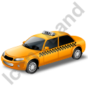 Taxi Yellow Icon, PNG/ICO, 128x128