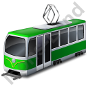 Tram Green Icon, PNG/ICO, 128x128