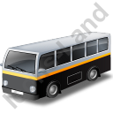 Transit Bus Black Icon, PNG/ICO, 128x128