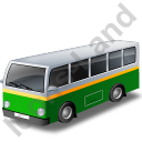 Transit Bus Green Icon