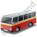 Transit Bus Red Icon, PNG/ICO, 128x128