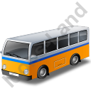 Transit Bus Yellow Icon, PNG/ICO, 128x128