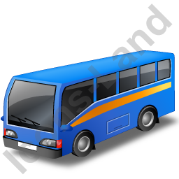Commuter Bus Blue Icon