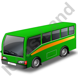Commuter Bus Green Icon, PNG/ICO, 256x256