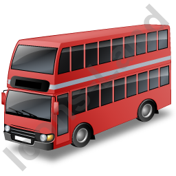 Double Decker Bus Red Icon, PNG/ICO, 256x256