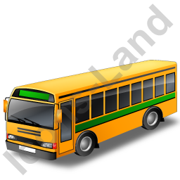 School Bus Green Icon
