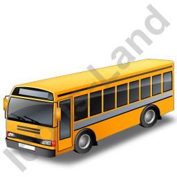 School Bus Grey Icon, PNG/ICO, 256x256