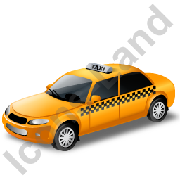 Taxi Yellow Icon, PNG/ICO, 256x256