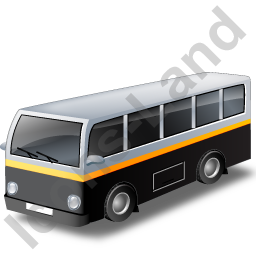 Transit Bus Black Icon, PNG/ICO, 256x256